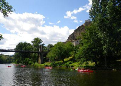 canoës sur l'Allier